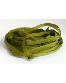 Unikleur zijde lint Au ver a Soie 4 mm breed per 3 meter