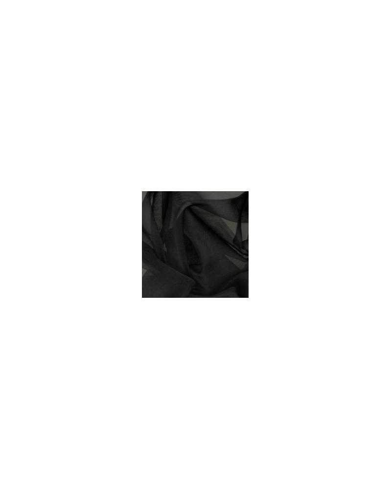 Zijde organza zwart