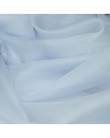 Zijde organza mistblauw 45x48 cm