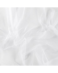 Silk tulle white