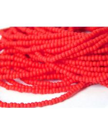 Strung bead rocaille 11/0 orange mat approx. 50cm strenglengte