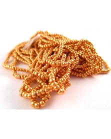 Geregen kraal rocaille 11/0 goud metallic ca. 50cm strenglengte
