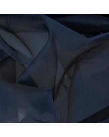Zijden organza Middennacht 45x48 cm