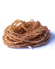 geregen kraal goud silverline 11/0 50cm strenglengte