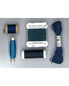 Ontdekpakket gobelin surfin marine blauw (PACK DECOUVERTE)