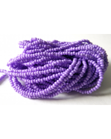 strung bead rocaille lilac pearl luster 10/0