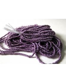 strung bead rocaille metallic purple 11/0