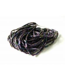 strung bead roccaille metallic purple 11/0