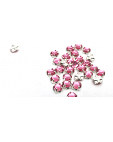 Gezette kristallen zilverkleur 3,5 mm