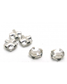 Gezette kristallen silverkleur 4 mm