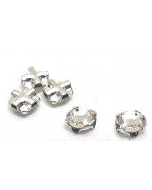 Regular crystals silverkleur 4 mm