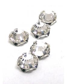 Gezette kristallen parelmoer zilverkleur 5 mm