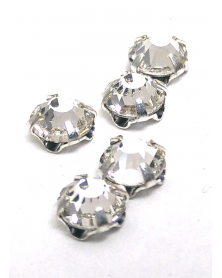 Regular crystals mother-of-pearl silver 5 mm