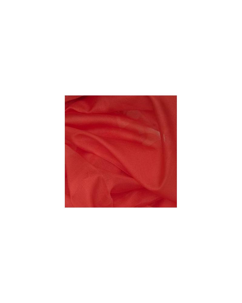Zijden organza rood 45x48 cm