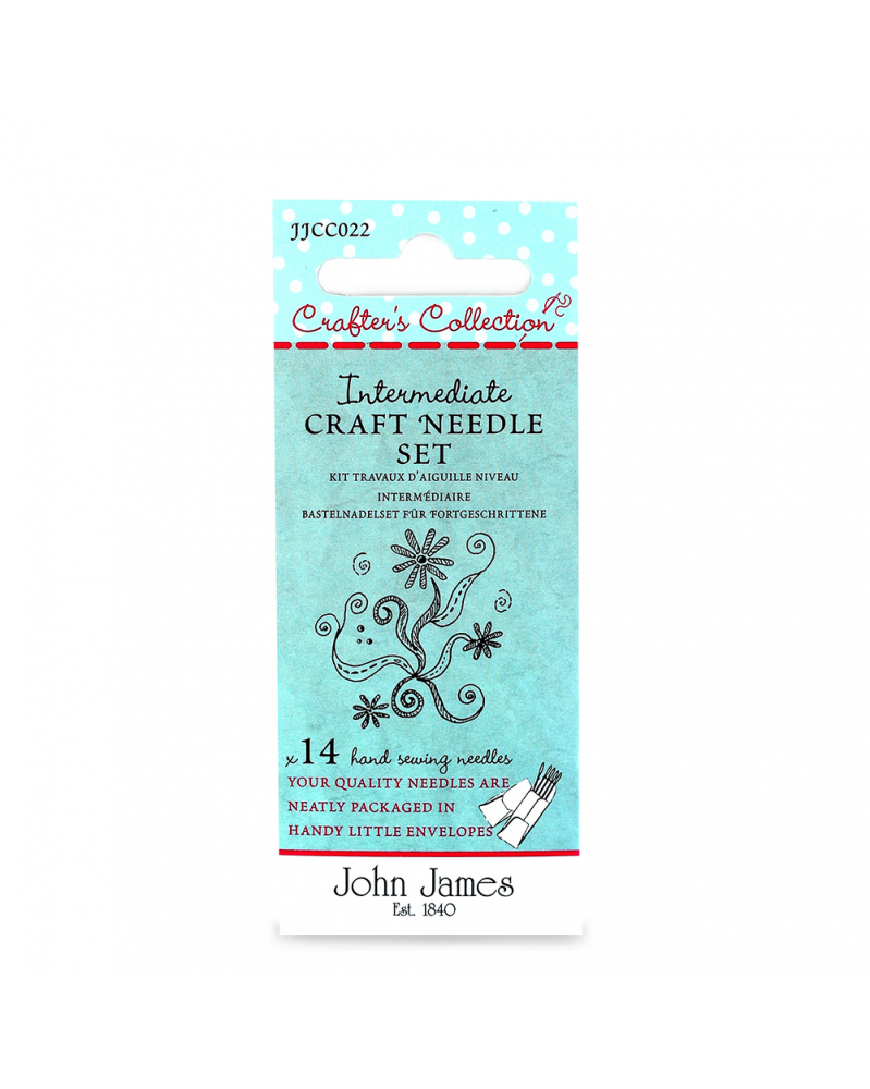 Intermediate craft needle set John James Crafters Collection