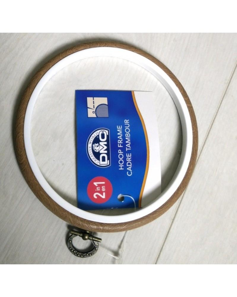 Sierring borduurring en kader in één 14 cm buiten diameter