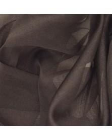 Zijden organza chocolade bruin 45 x 45