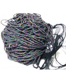 strung macco tube blue purple matte 24/0 price per appr. 12 strands