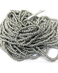 Geregen roccaille koud zilver 10/0 ca. 50cm