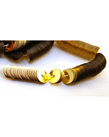 Laced paillette flat gold 6mm