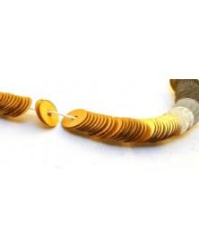 Geregen Paillettes plat goud satijnglans 4mm