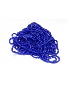 Geregen kraal zee blauw charlotte 13/0 per bundel