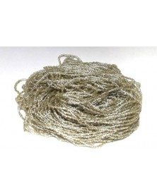 strung bead Champagne silver line 3-cut 9/0 per bunch