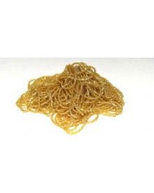 strung bead dark yellow 3-cut 11/0 per bunch