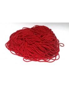 Geregen kraal steen rood roccaille 13/0 per bundel