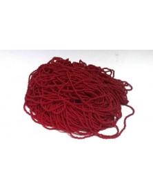 Geregen kraal donker rood roccaille 14/0 per bundel