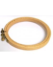 Houten borduurring 10 cm diamater