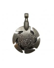 Clover Draadsnijder hanger antiek zilver