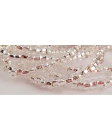 Geregen kraal kristal silver line