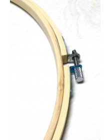Houten borduurring 34 cm diameter