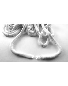 Geregen Paillette wit parelmoer 4 mm