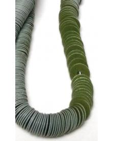 Geregen Paillette olijfgroen plat 4 mm