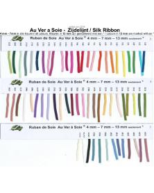 Unikleur zijden lint Au ver a Soie 13 mm breed per 3 meter
