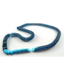 Geregen Paillette blauw spiegelend 4 mm