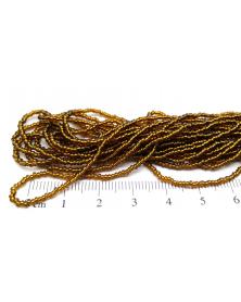 Strung bead rocaille dark topaz silver line 13/0