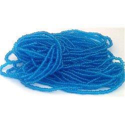 Geregen roccaille capri blauw zilver 10/0 ca. 50cm per bundel