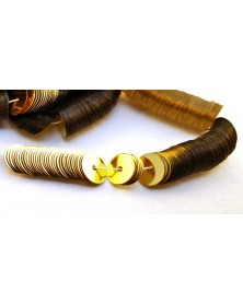 Laced paillette flat gold 6mm