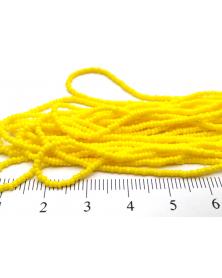 Strung bead true-cut light yellow 13/0