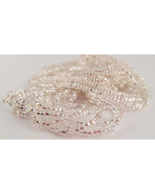 Strung bead crystal silver line