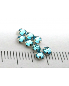 Regular crystals waterblauw 3 mm