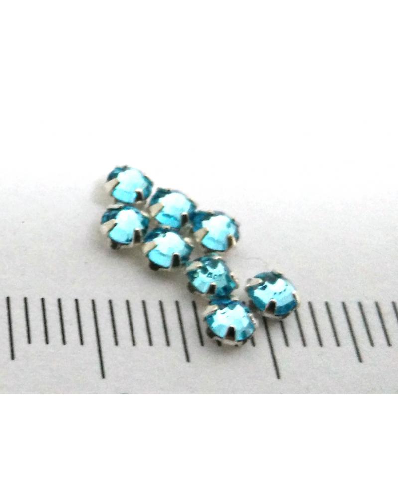 Gezette kristallen waterblauw 3 mm